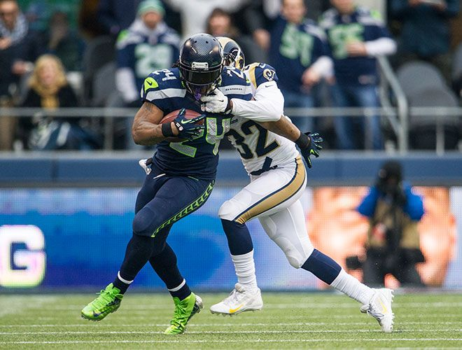 Seahawks clinch the NFC West vs Rams, 29 December 2013