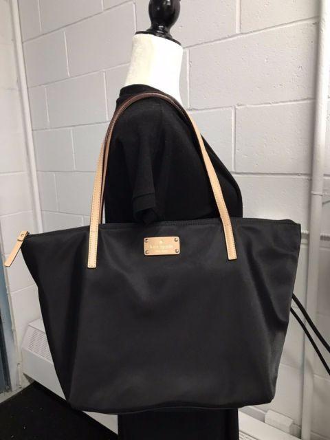Kate Spade Kennedy Park Travel Sophie Black Fuchsia Nylon Tote Bag | eBay