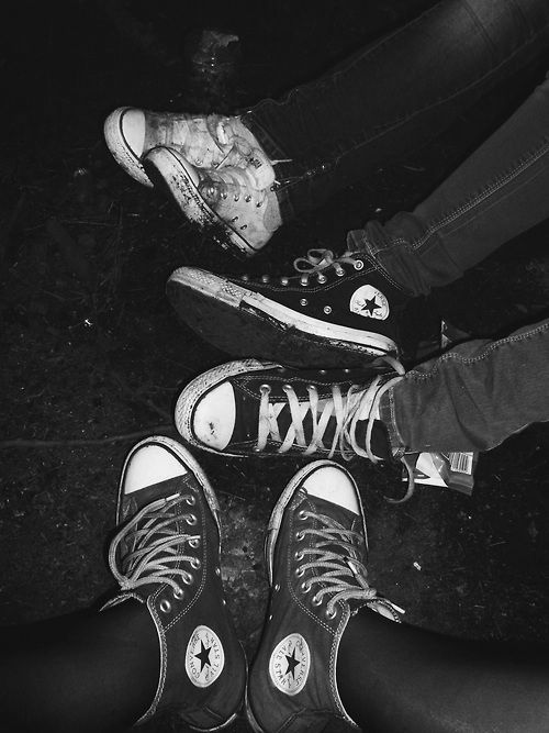 """""""Let's all wear converse tomorrow."""" I suggested """"Even us guys?"""" Mark asked.  """"No. You can wear whatever. It's just because I want to take this really cool picture I saw."""" """"But we wanna feel cool, too!"""" he whined playfully and I laughed. """"Ummm I guess wear those ummm Sky Jordan's or whatever."""" He looked at me for a second.  """"You mean Air Jordan?"""" he said bluntly. """"Sure."""""""
