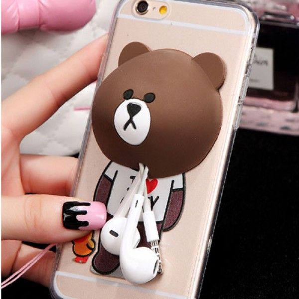 Cool! Bear Rabbit Bunny Silicone Winder Cute IPhone 5/5s/6/6p Cases just $19.99 from ByGoods.com! I can't wait to get it!