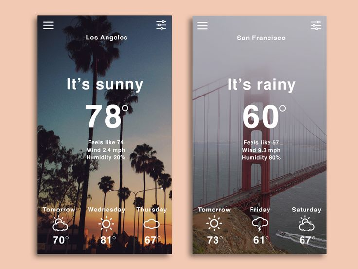 Weather App Concept by Audrey Johnson
