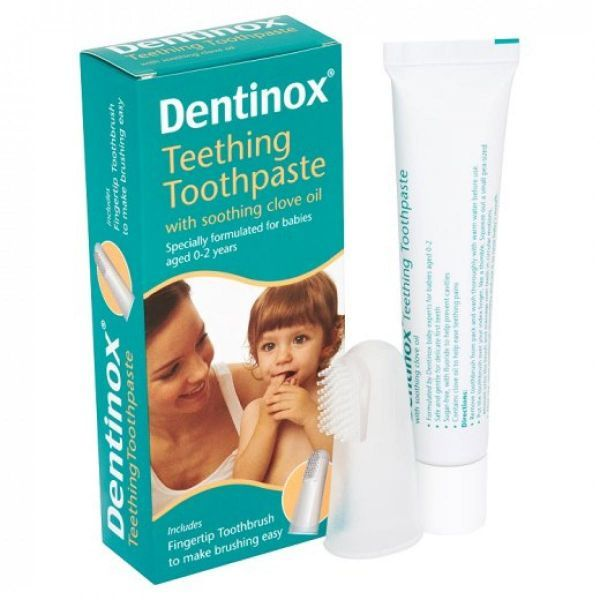 جل التسنين Dentinox Teething Brushing Teeth Clove Oil Toothpaste