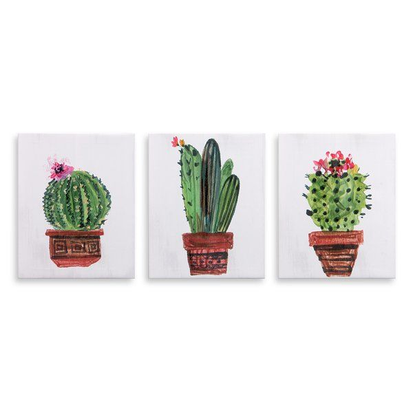 This Adorable Canvas Multi Pack Is The Perfect Addition To Your Home With Its Simple Beauty Cute And Chee Cactus Painting Canvas Painting Diy Green Canvas Art