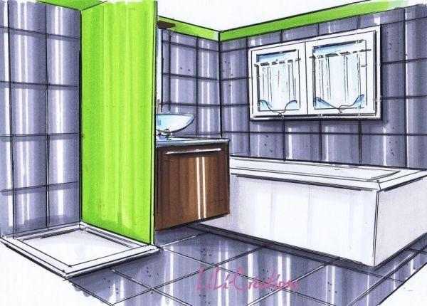 17 best SALLE DE BAIN ENFANT images on Pinterest Bathroom, Tile - brico carrelage salle de bain