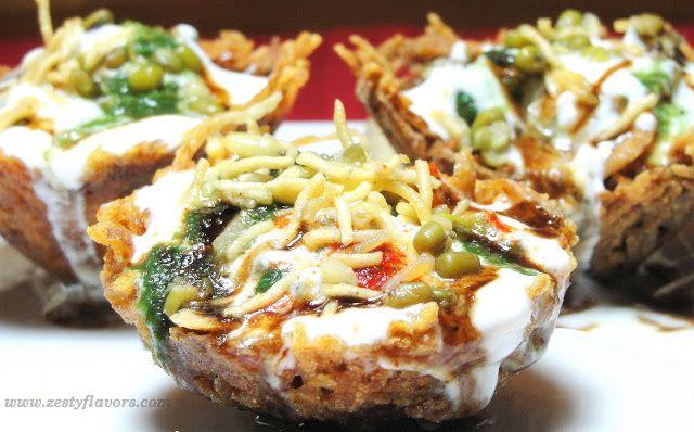 http://www.zestyflavors.com/2010/11/lachha-tokri-chaat-in-crunchy-edible.html