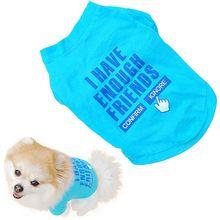 #Petdog #DogClothes summer cheap puppy clothes Pet Puppy Clothes Ropa Perro Summer Cotton Shirt Small Dog Cat Pet T Shirt Lovely Vestiti Per Cani(China)