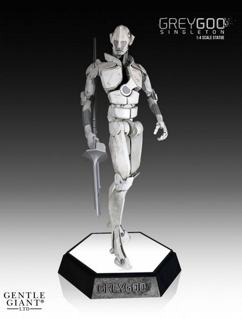 This Grey Goo Statue Looks Pretty Solid -  Share. Artificial Intelligence not included.  By Jeff Lake   Gentle Giant has revealed its upcoming Singleton statue, the resident AI stepping right out of the world of Grey Goo. Out this spring and currently up for pre-order at Gentle Giant, it can be yours for $399.00.  Based on the recently...