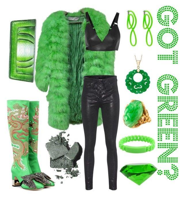 Got Green?? by jessann-harrold on Polyvore featuring polyvore moda style Proenza Schouler Christian Dior rag & bone Gucci Cashhimi Marc by Marc Jacobs Balenciaga Bobbi Brown Cosmetics fashion clothing emeraldgreen