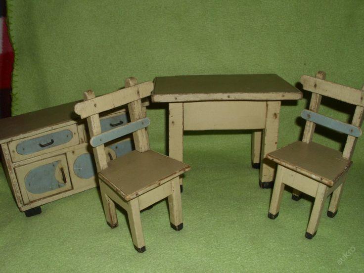 Dřevěný předválečný nábytek pro panenky (6078342880) - Aukro - největší obchodní portál