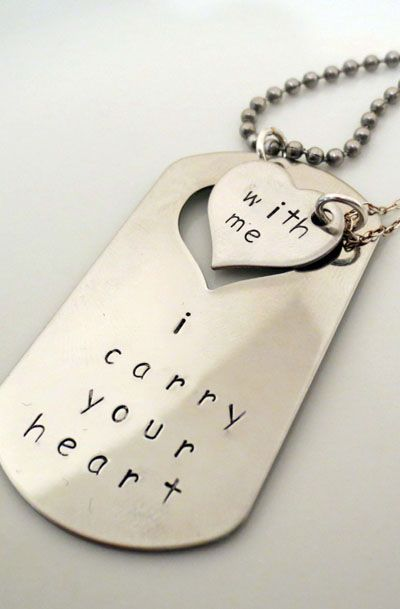 Personalized Hand Stamped Matching Necklaces - His and Hers