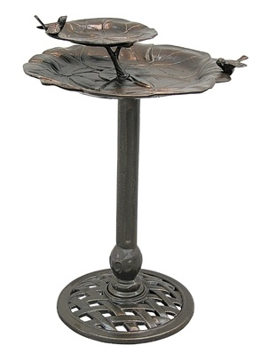 Wild Birds Unlimited: Metal Bird baths with take you thought the seasons and your birds will love you for it.