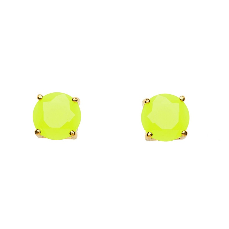 Love these studs from Mimco for a little pop of neon...