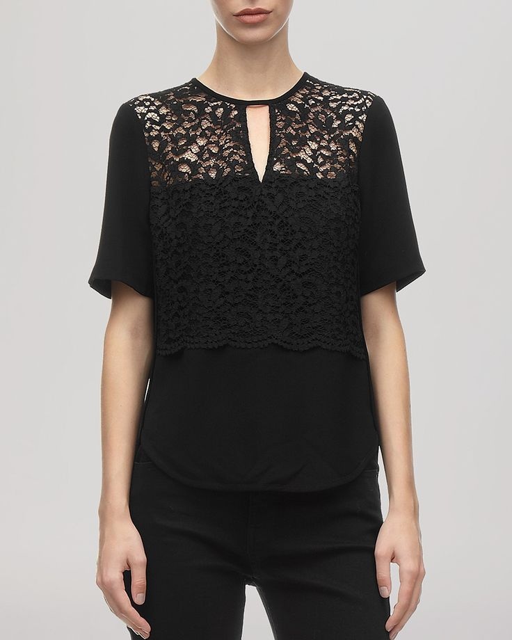 Whistles Top - Leila Lace Inset Shell | Bloomingdale's