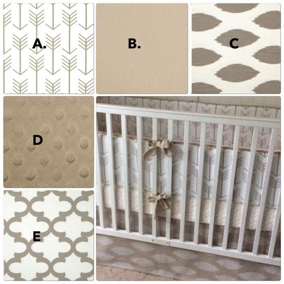 Hey, I found this really awesome Etsy listing at https://www.etsy.com/listing/238268288/taupe-arrows-gender-neutral-baby-bedding