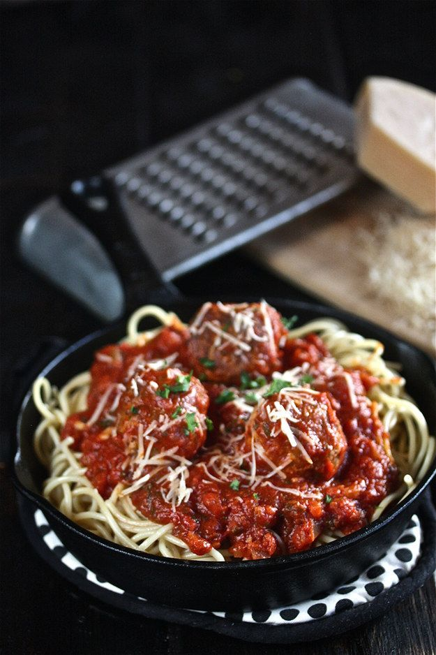 Tony's Spaghetti with Meatballs from Lady and the Tramp