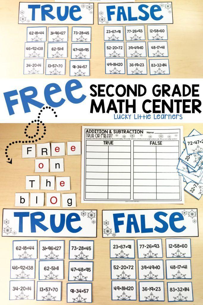 Free Second Grade Math Center