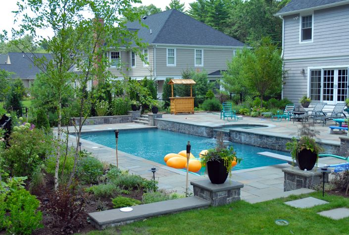 Rectangular pool designs minimalist rectangular swimming for Decor around swimming pool