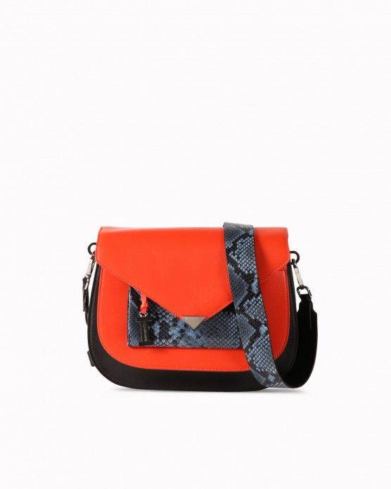 Bag with snakeskin-effect details Iceberg  #Iceberg #bags #snakeskin #handbags #fashion #style #stylish #love #socialenvy #me #cute #photooftheday #beauty #beautiful #instagood #instafashion #pretty #girl #girls #styles #outfit #shopping