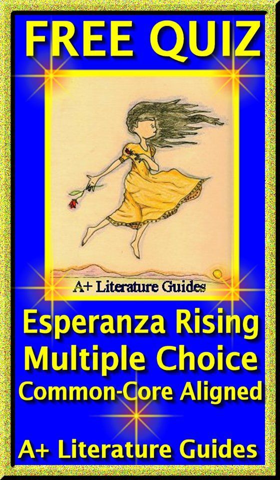 Esperanza Rising FREE QUIZ - Multiple Choice, Common Core Aligned.