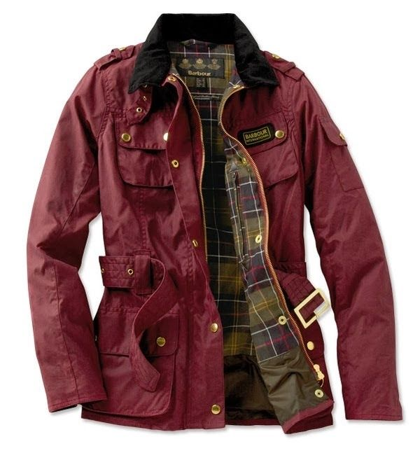 Burgundy Fall Barbour Jacket