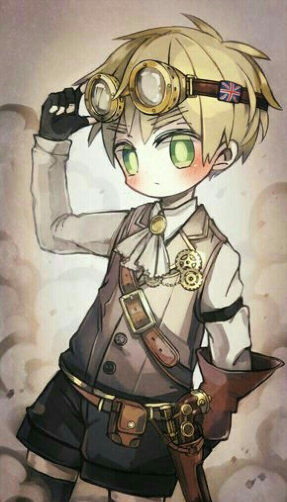 Steampunk England Anime Chibi Hetalia Fanart Anime