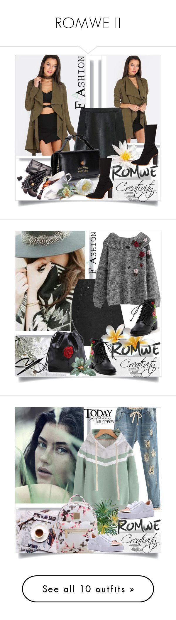"""ROMWE II"" by creativity30 ❤ liked on Polyvore featuring romwe, vintage, Dukes, Linda Farrow, Superdry, Bobbi Brown Cosmetics, LAQA & Co., A.J. Morgan, Max&Co. and Lipstick Queen"