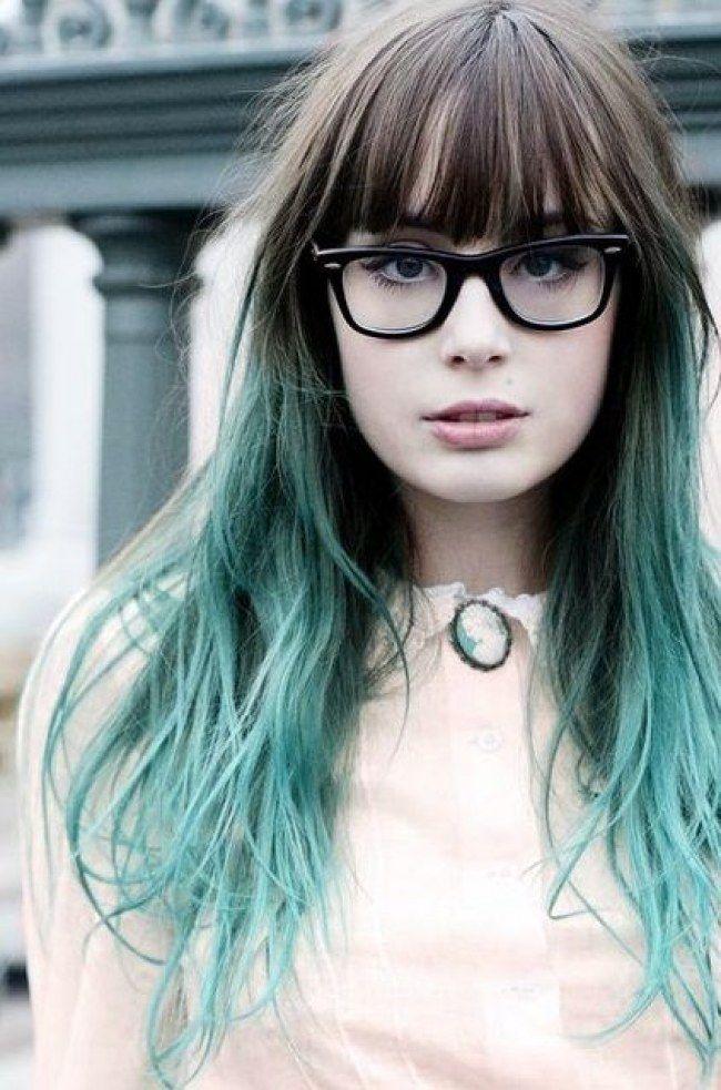 cabelo comprido-foi-se o cinza e veio o verde,nas pontas....sereia!