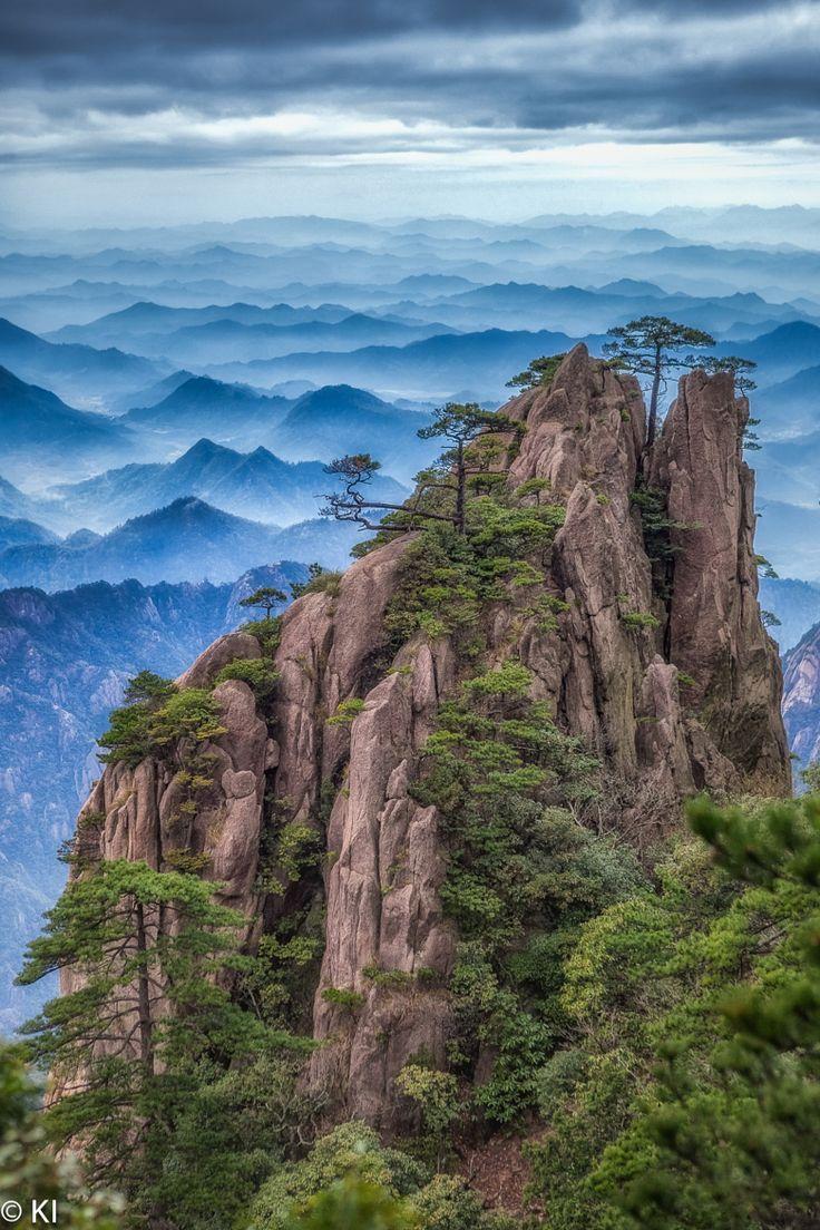 Huang Shan, China.  Den richtigen Reisebegleiter findet ihr bei uns: https://www.profibag.de/reisegepaeck/