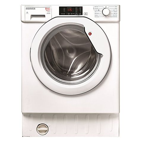 Buy Hoover HBWD 8514D-80 Washer Dryer, 8kg Wash/5kg Dry Load, A Energy Rating, 1400rpm Spin, White Online at johnlewis.com