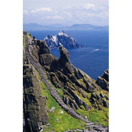 Stone Stairway Skellig Michael Skellig Islands County Kerry Ireland Canvas Art – Gareth McCormack Design Pics (24 x 36)