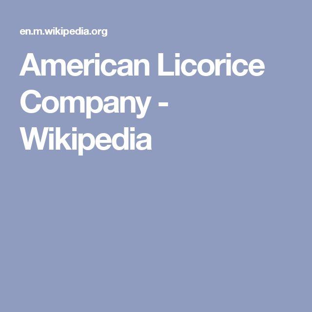American Licorice Company - Wikipedia