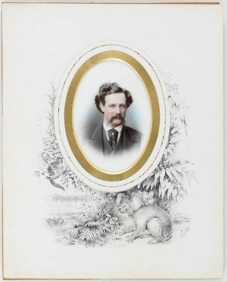 A koala adorns this portrait of businessman Walter Russell Hall from 1874. The artist was Helena Forde. Mitchell Library, State Library of New South Wales: http://www.acmssearch.sl.nsw.gov.au/search/itemDetailPaged.cgi?itemID=433281