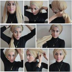 Dina Tokio Turban Style hijab tutorial