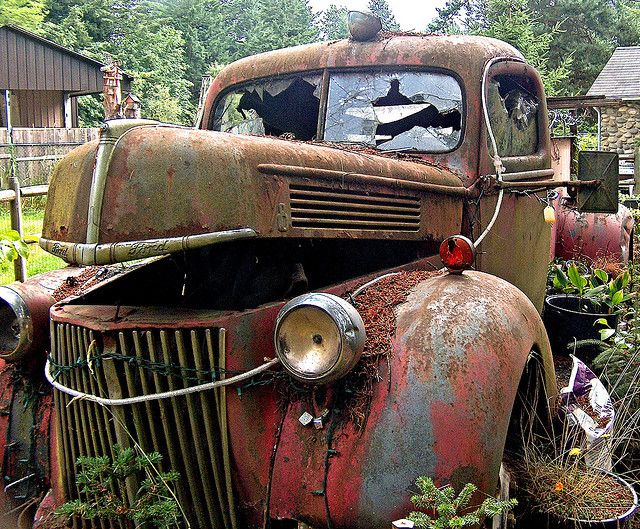 Old Fire Truck for Sale by Madeline Houston, via Flick  amazing patina