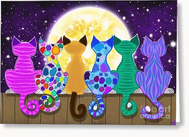 pin von elselina auf malen  katzen malereien katzen