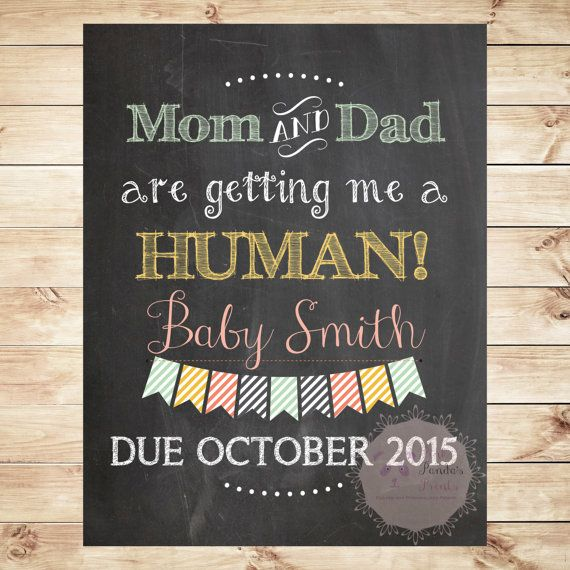 Pet, Pregnancy Annoucement, Dog, cat, funny, photo prop, sign, print, poster, new baby