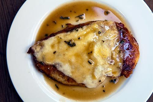 Chicken Prosciutto ~ Chicken prosciutto recipe with boneless, skinless chicken breasts with butter toasted sage, wrapped in prosciutto. ~ SimplyRecipes.com