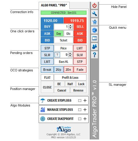 AlgoTrader Panel The Main Dashboard of Manual and Automated Trading
