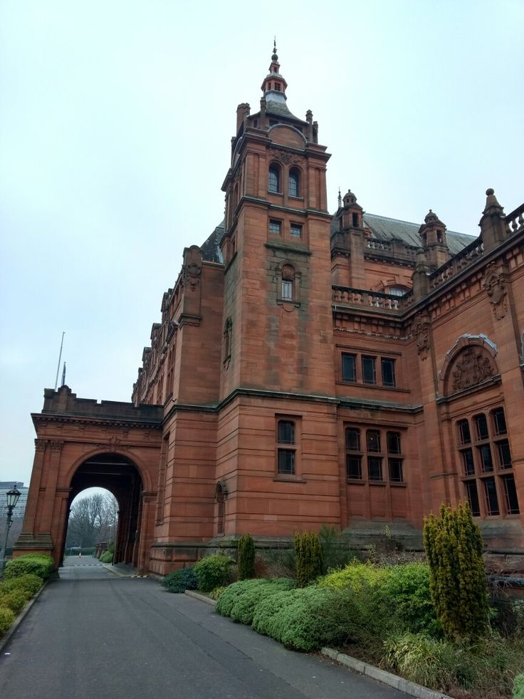 Глазго Шотландия Glasgow Scotland museum Kelvingrove architecture nature UK