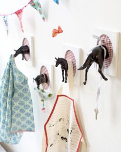 Animal wall hangers. It appears they are just cut in half. Hilarious!