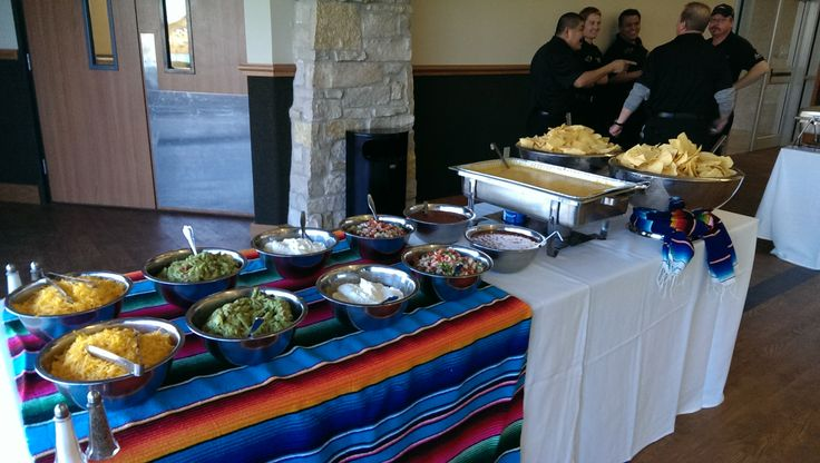Tex-Mex catering in front of kitchen