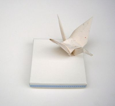 Baptism Bomboniere with origami bird at www.happyrooms.gr