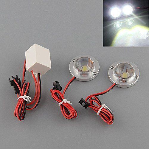 ETGtek 2pairs Car Auto véhicules 2 LED Flash stroboscopique clignotant d'urgence conduite blanc durable Ampoule utiles Lamp Light Controller