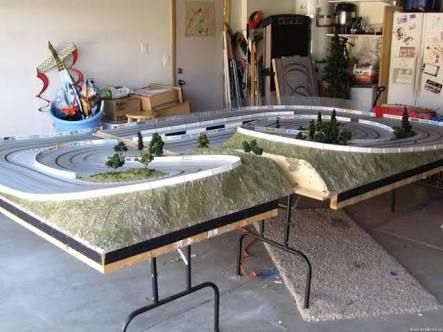 Slot car racing tables