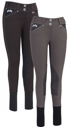 Equine Couture Blakely Knee Patch Breeches | ChickSaddlery.com I love almost any pair of breeches that don't have that velcro ankle closure.