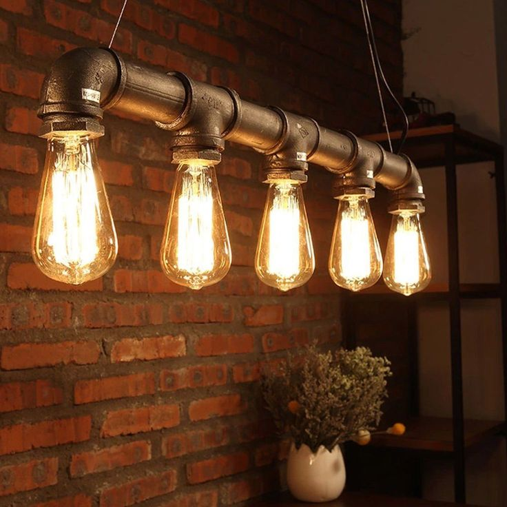 Industrial Loft Pendant Vintage Ceiling Light DIY Decoration Lamp E27 Metal Pipe