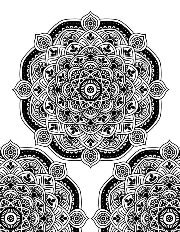Mandala Motifs Coloring Book 30 Intricate Designs for
