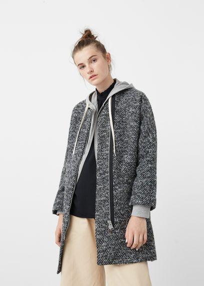 Nestrukturovaný vlněný kabát