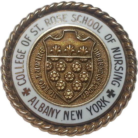 10K Gold College of Saint Rose School of Nursing Pin Albany NY