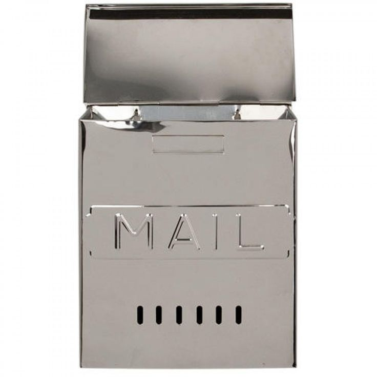 "Vertical ""MAIL"" Wall-Mount Stainless Steel Mailbox"